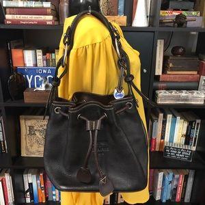 Dooney & Bourke Chocolate Pebble Leather Hobo Bag